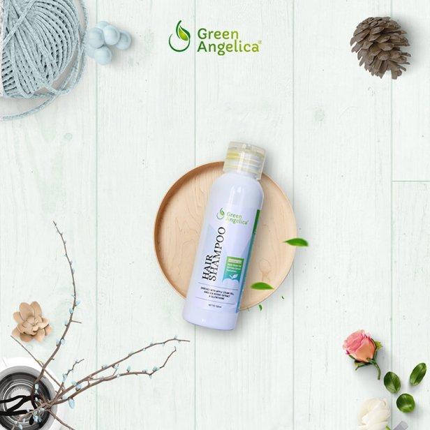 hair shampo green angelica